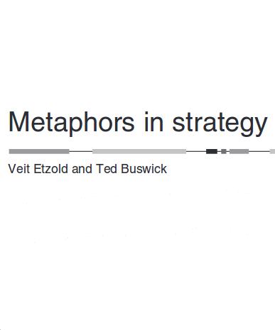Keynote Speaker Veit Etzold Metaphors: Metaphors in business