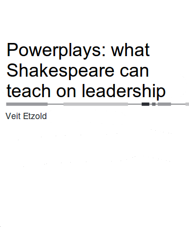 Keynote Speaker Veit Etzold Powerplays: Leadership