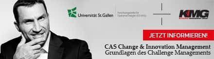 Universität St. Gallen, Studiengang CAS Change&Innovation Management, Modulwoche 3