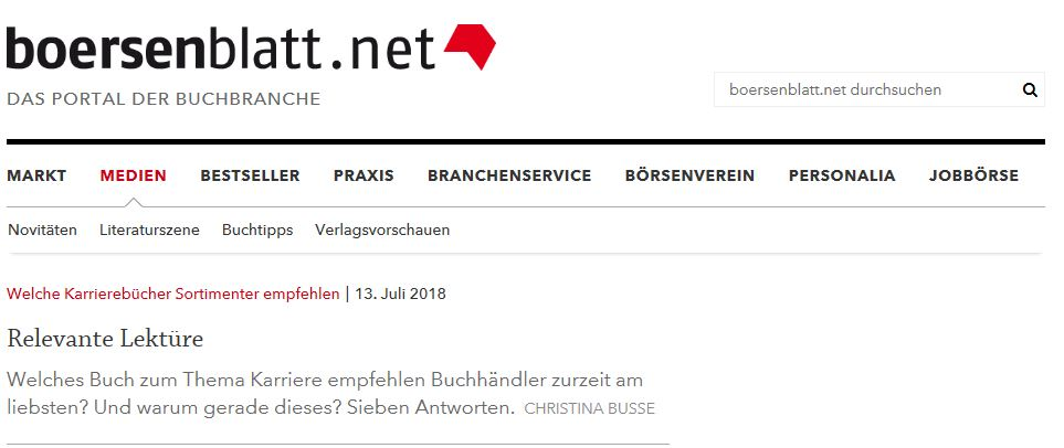 Thalia empfiehlt Strategiebuch – veröffentlicht bei boersenblatt.net
