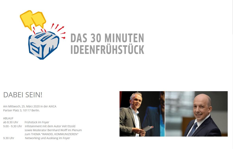 """GABAL 30 Minuten Ideenfrühstück – Vortrag und neues Buch """"Wandel kommunizieren"""""""