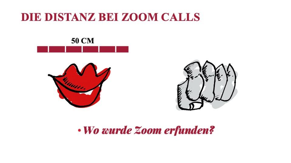 Zoom und die 50 Zentimeter